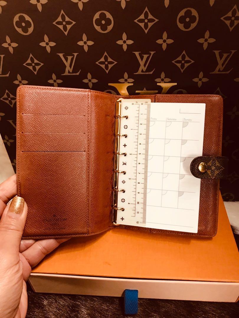 Authentic Vintage Louis Vuitton Agenda PM Monogram Leather