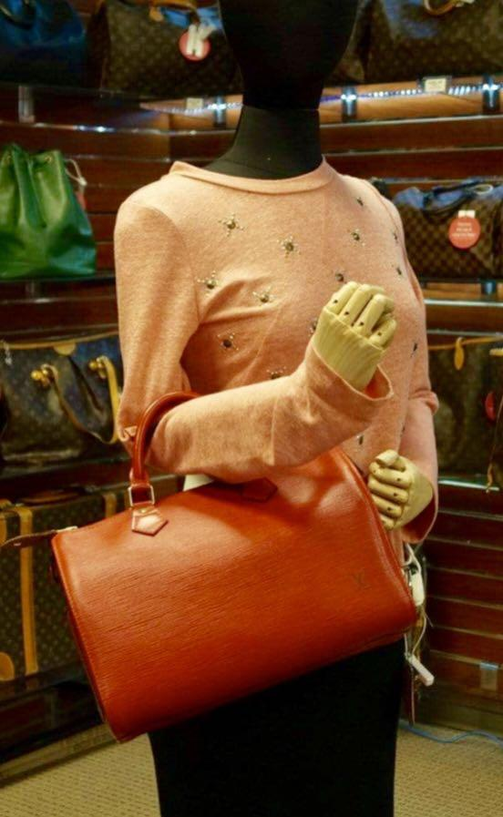 Authentic Vintage Louis Vuitton Speedy 30 Epi brown Leather