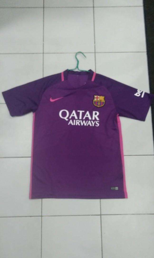 check out cfee0 ac791 Barcelona purple pink away kit., Sports, Sports Apparel on ...