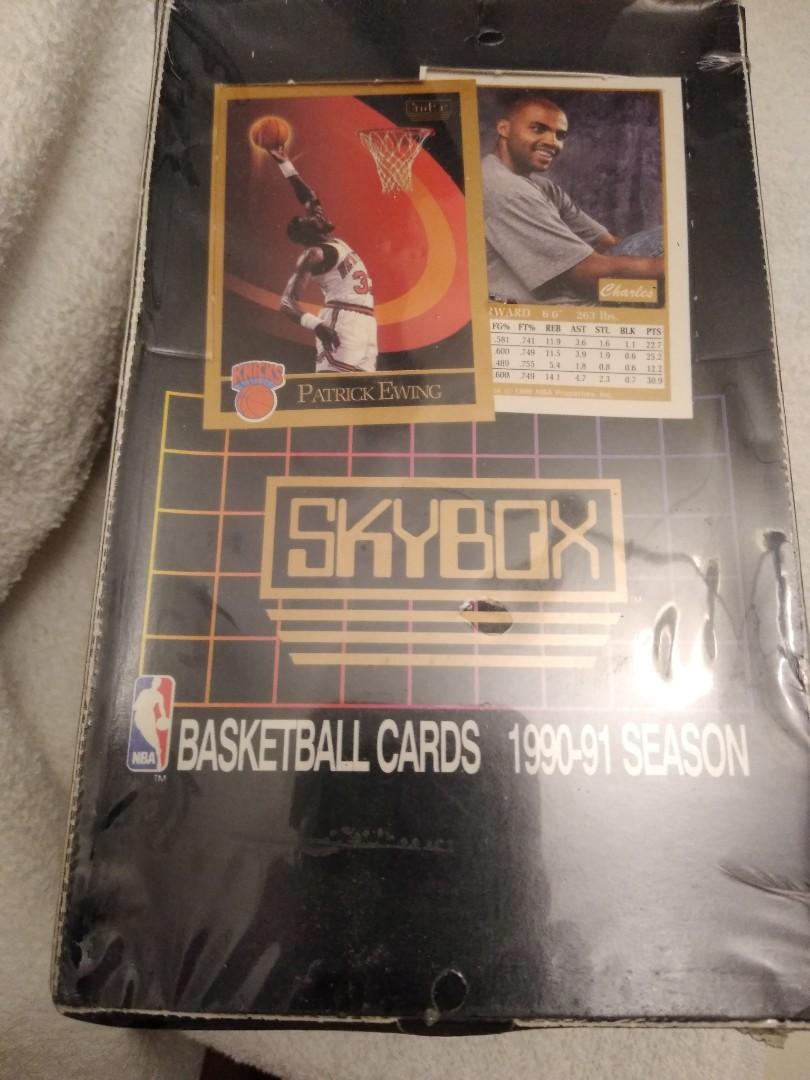 Basketball cards 2 Boxes of 90-91 Skybox Basketball series 1 and 2.