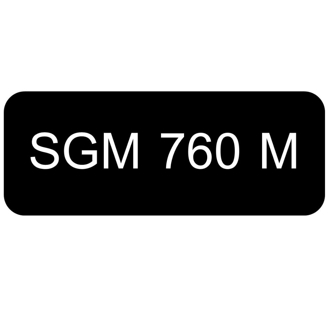 Car Number Plate for Sale: SGM 760 M