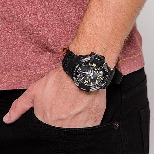 Casio GA-1000-1B G-Shock Men Analog Digital GRAVITYMASTER Sporty Design Classic Black Resin Band Grey Case Original Watch (GA-1000)