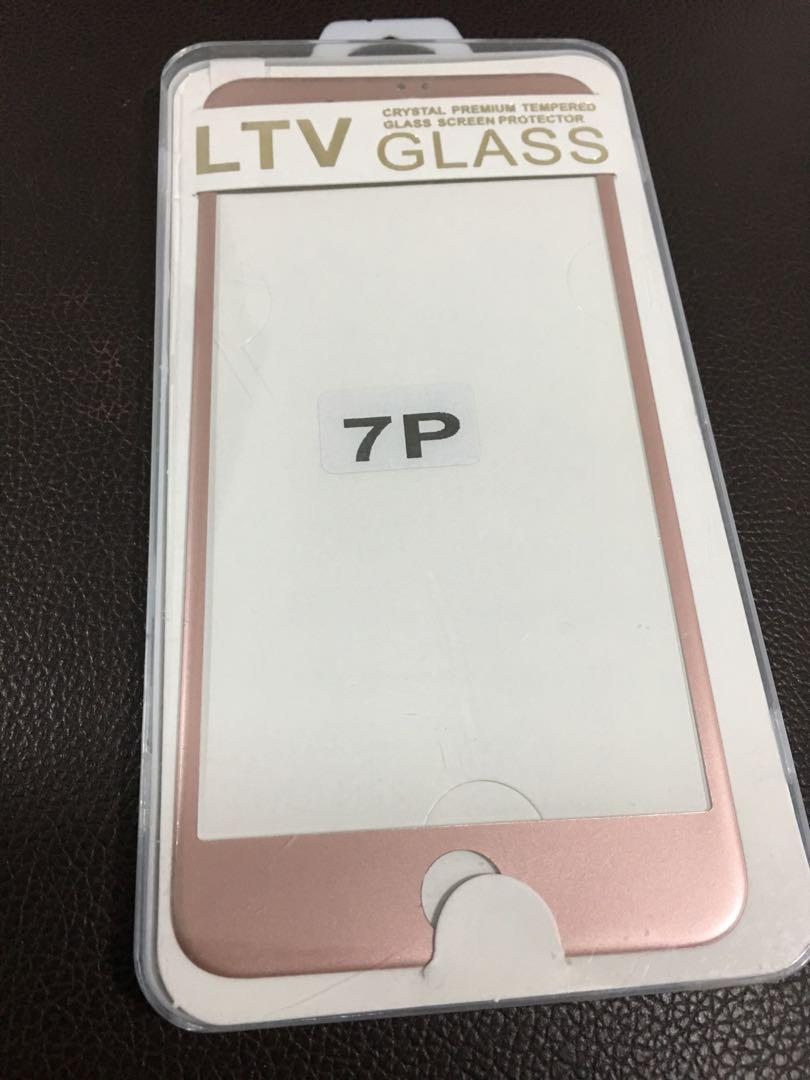 Colored Tempered Glass (Rose Gold) for iPhone 7 Plus