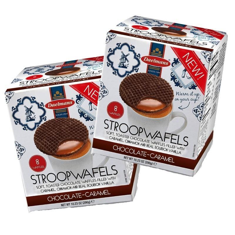 Daelmans chocolate stroopwafels cube 2 in 1 value pack