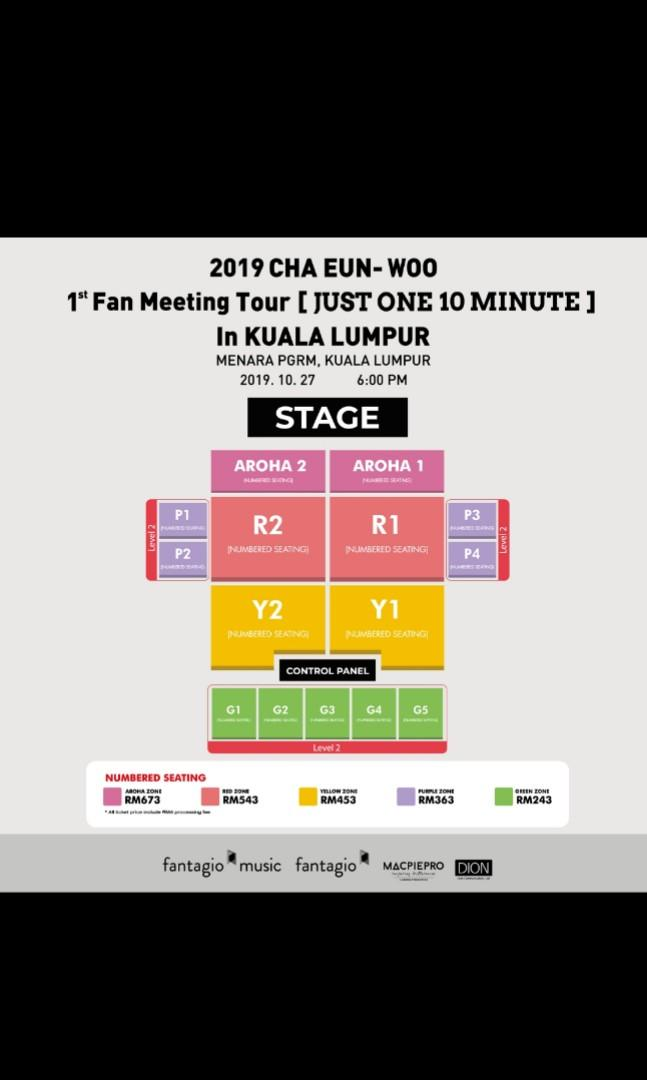 Discount for CHA EUN WOO 1st FANMEETING TOUR IN KL