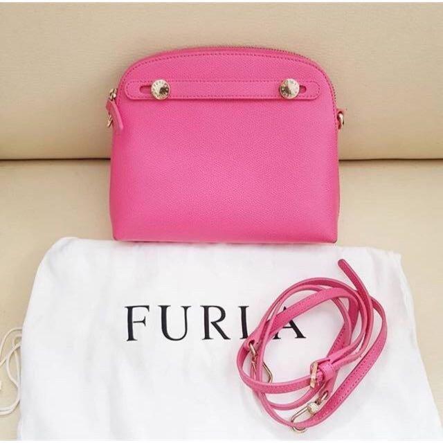 Furla Mini Piper pink fuschia authentic bag / tas slempang original branded