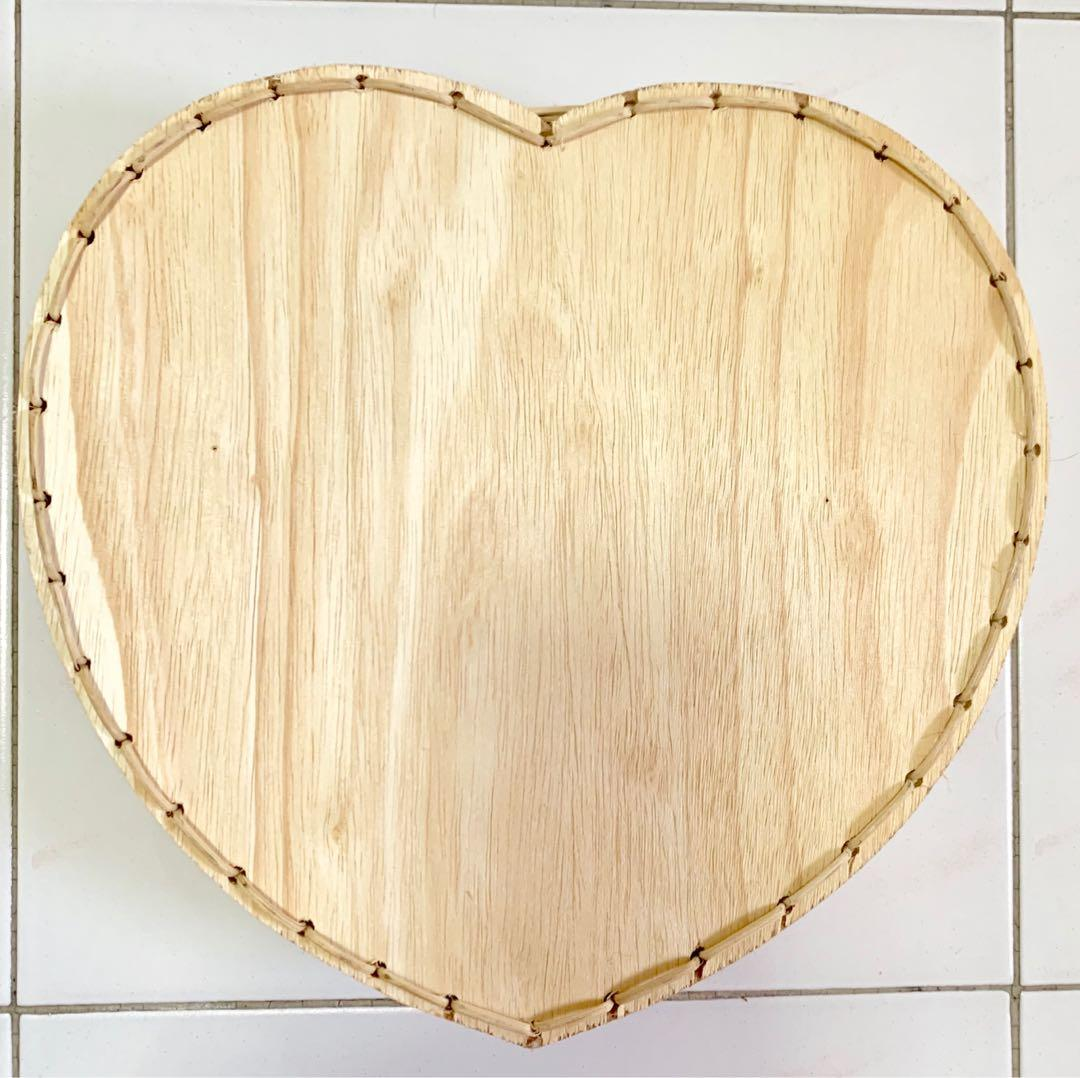 Heart Shaped Rattan Basket