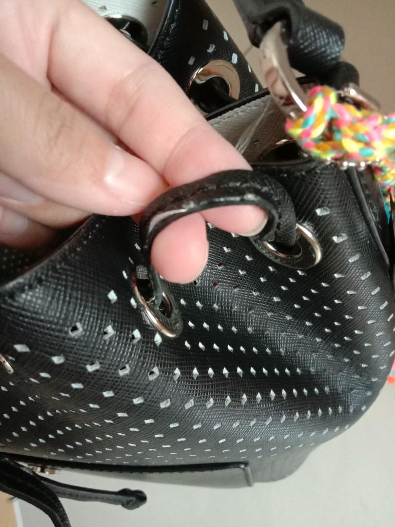 #joinagustus Authentic Michael kors greenwich perforated black bag | mk black bag | preloved mk