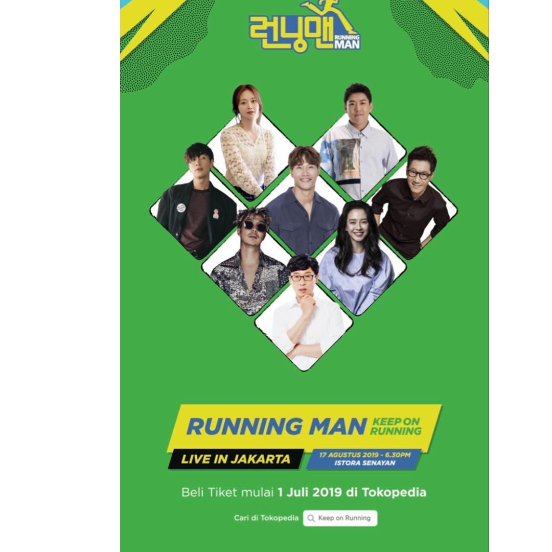 Jual Tiket Running Man Jakarta 17 Agustus 2019 Istora