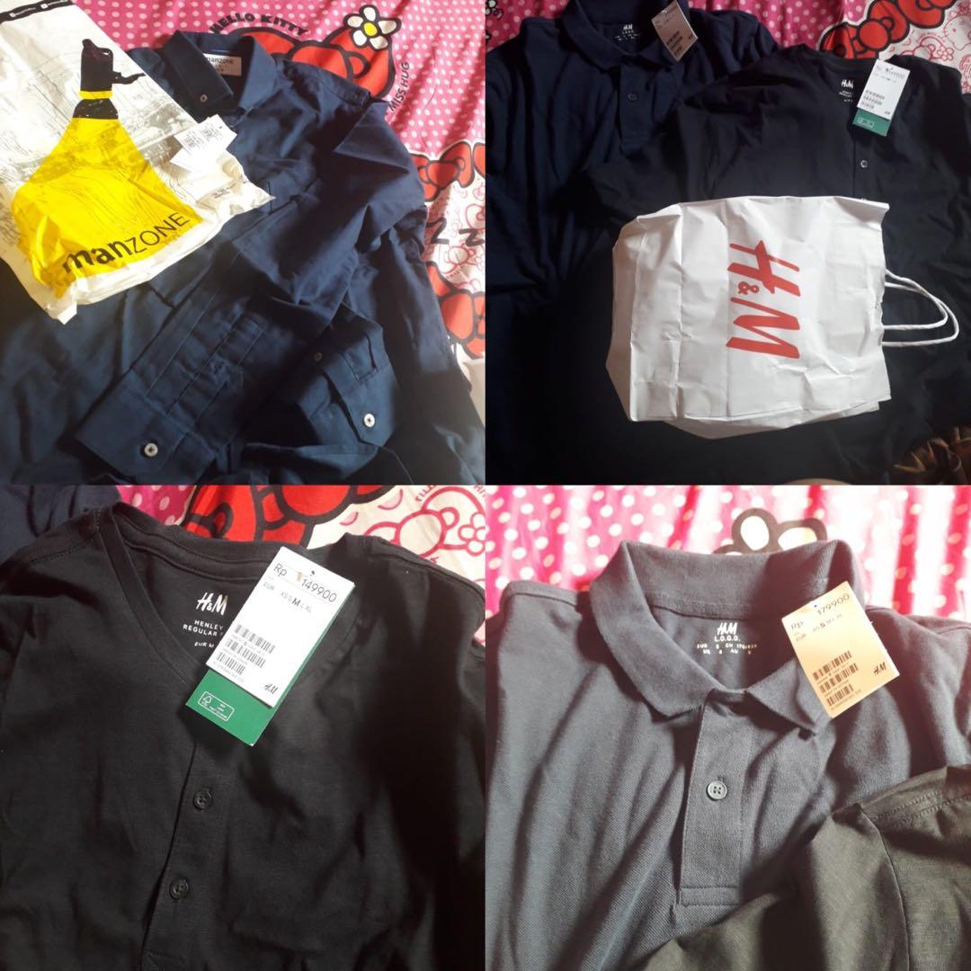 Kemeja manzone, kaos H&M