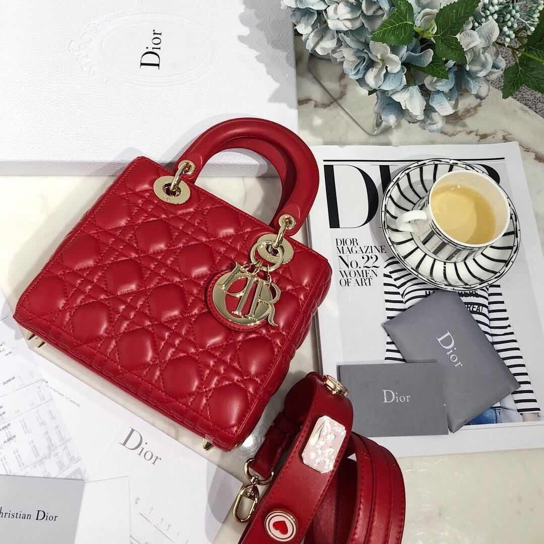 Lady Dior 77018, Seasonal Items, SUPERMIRROR, w20xh17xd8cm  H  @3.7jt.  (Quality Djamin Bagus, Mirip Ori)