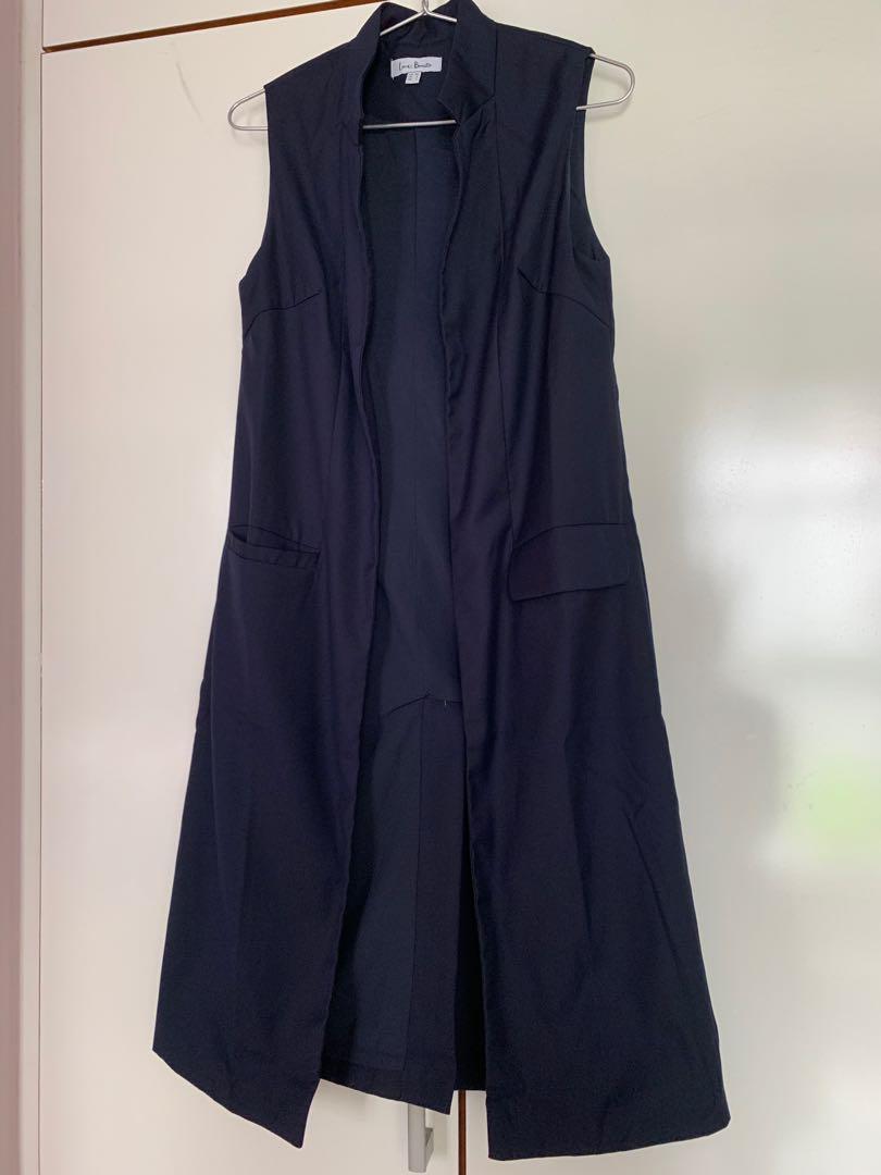 Long Line Vest(navy blue)