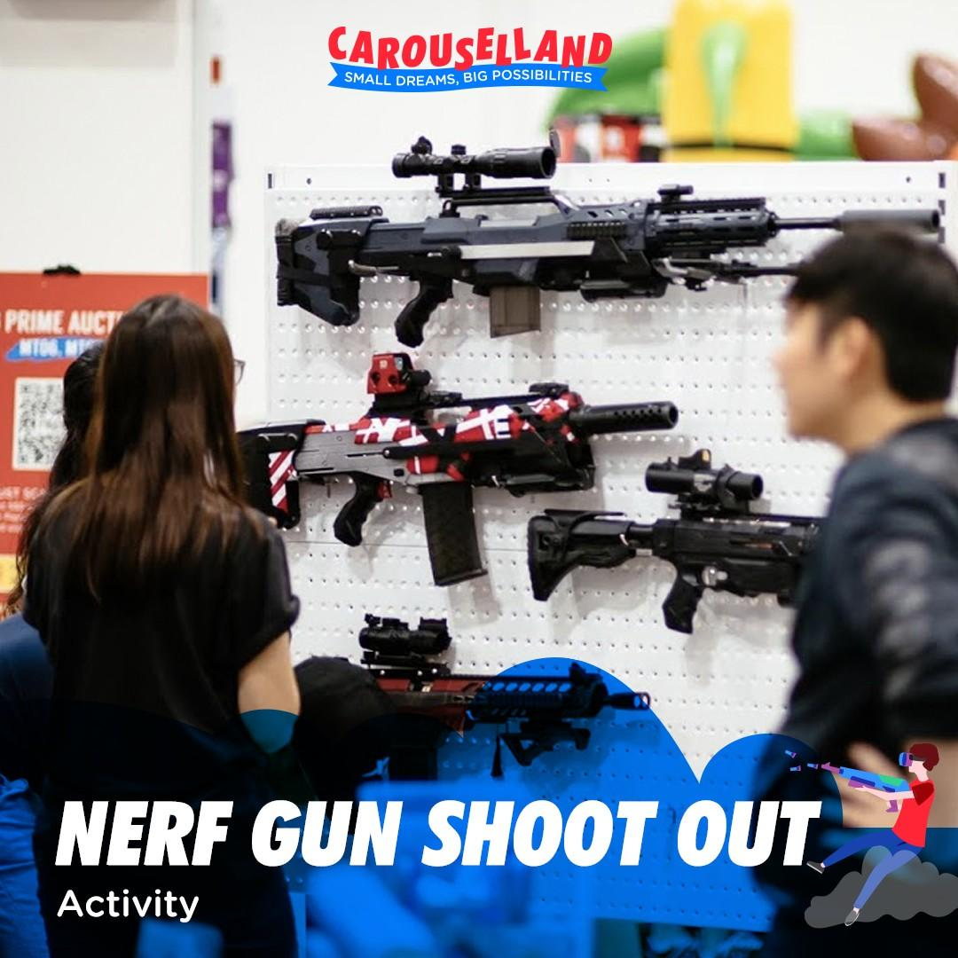 Nerf Gun Shootout at Carouselland