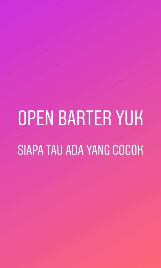 Open barter yukkk