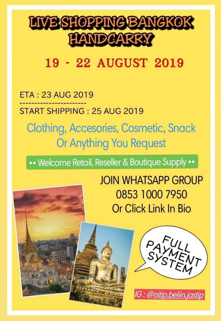 PO Live Shopping Bangkok 19-22 Aug' 19