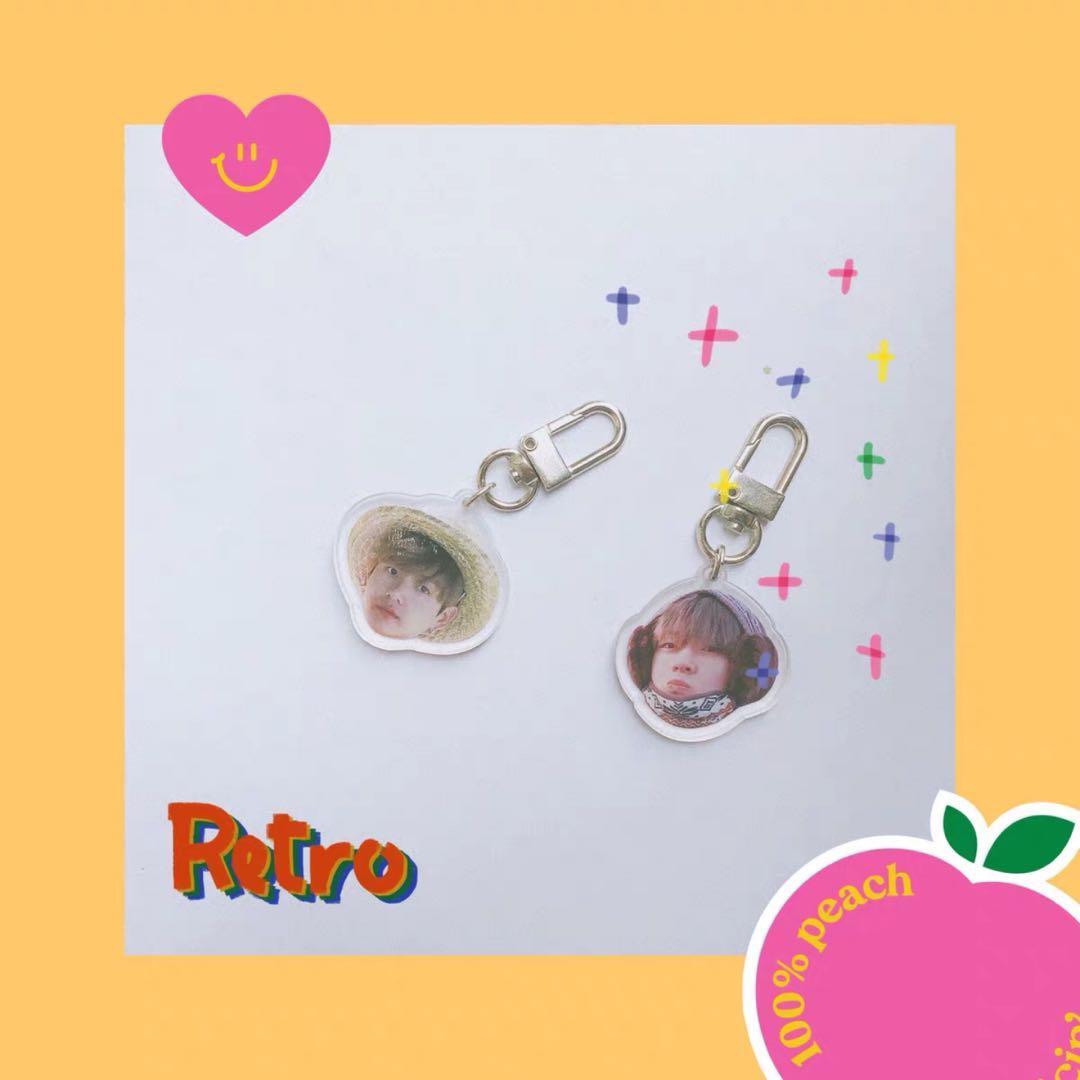 (Preorder) peachlab Grubby Jungkook Taehyung acrylic keyrings