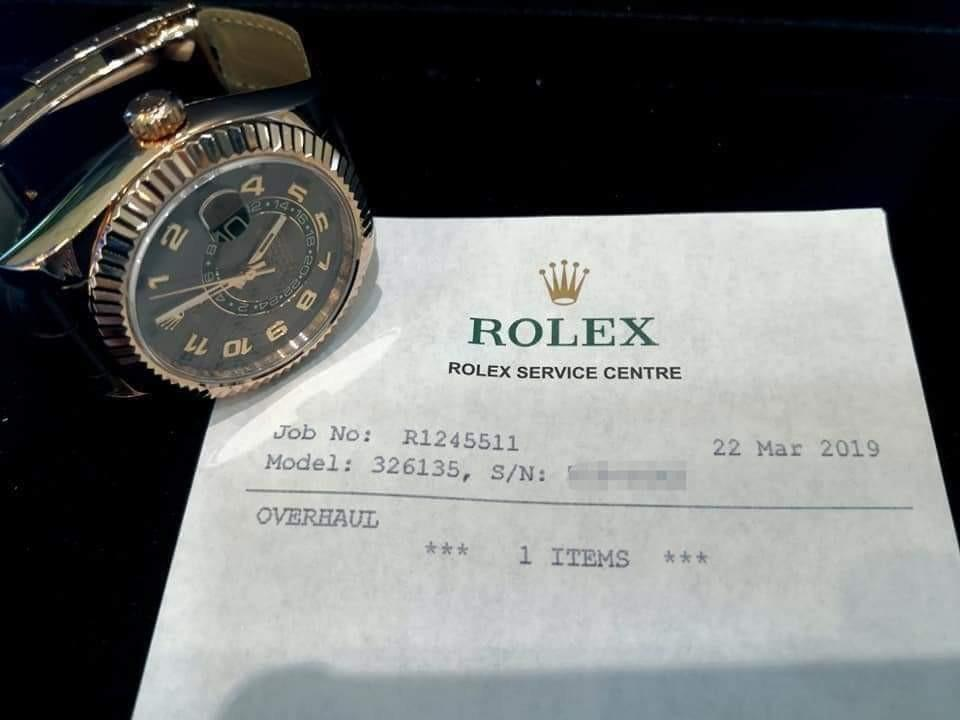 PREOWNED RO LEX Sky-dweller, 326135, Everose Gold, 42 mm,  Alphanumeric Series @ Year 2013 Mens Watch