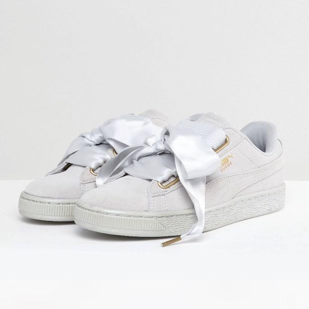 PUMA Satin Heart, Women's Fashion, Shoes, Sneakers on Carousell