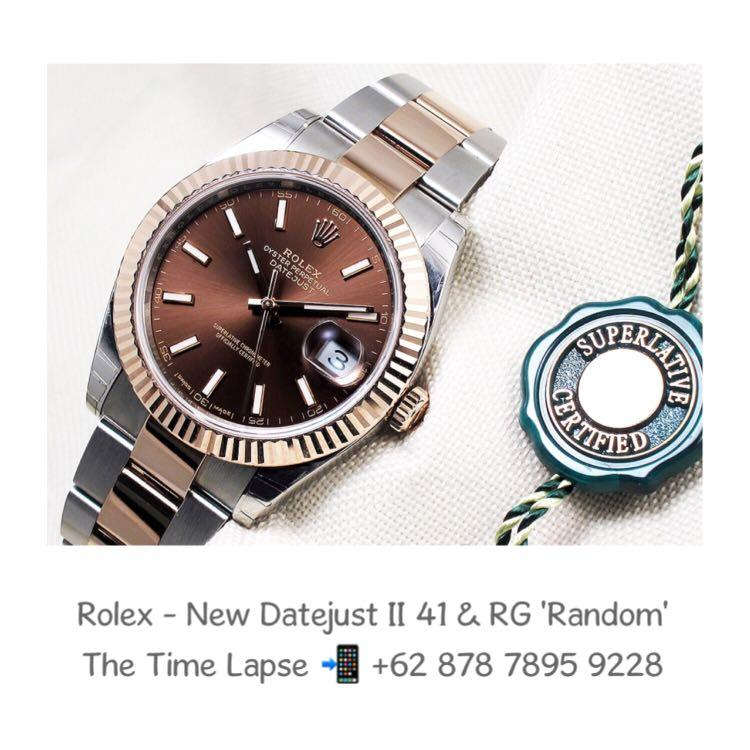 Rolex - New Datejust II 41m, Choco Dial Steel & 18K Rose Gold Oyster 'Random'