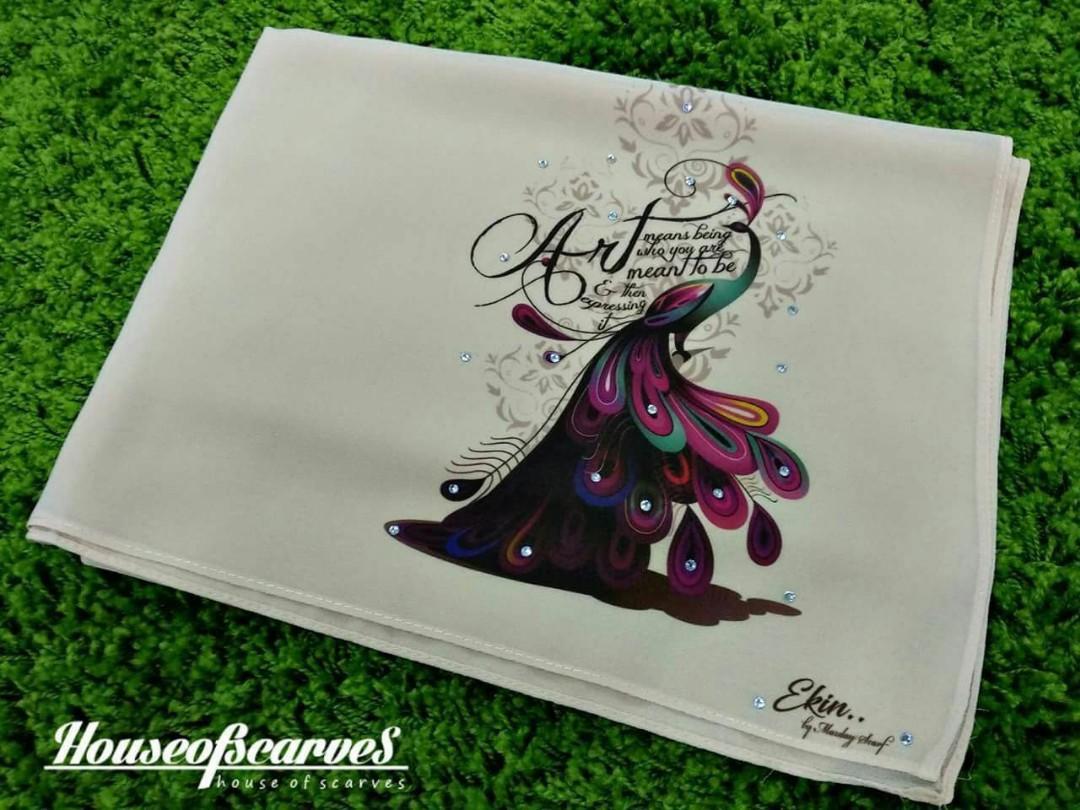 Shawl printed custom bawal merdeka