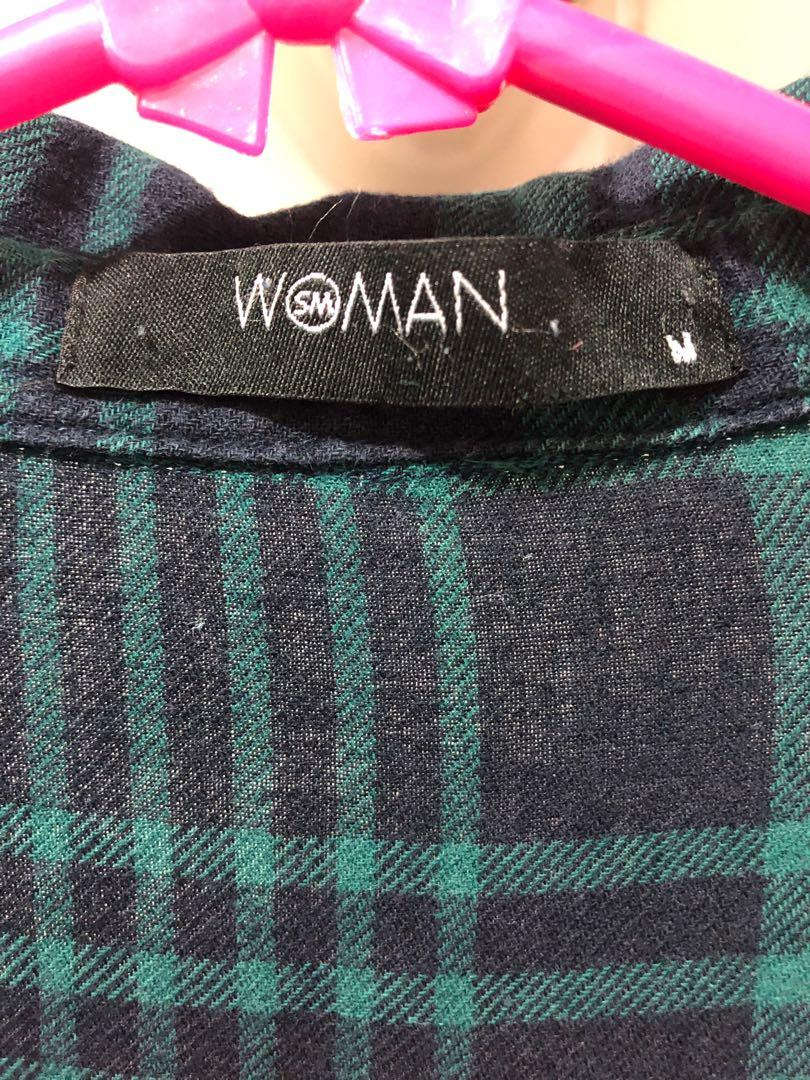 SM Woman Plaid Checkered Polo tops outerwear