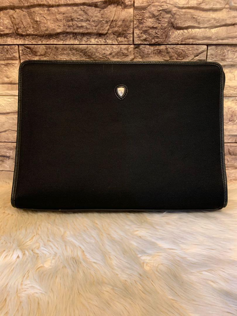 Tas kerja dokumen kantor laptop Lamborghini authentic size 37 x 27 x 8 cm roomy