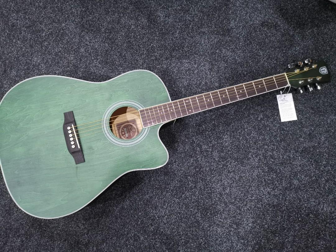 Acoustic Guitar in Tortoise Green