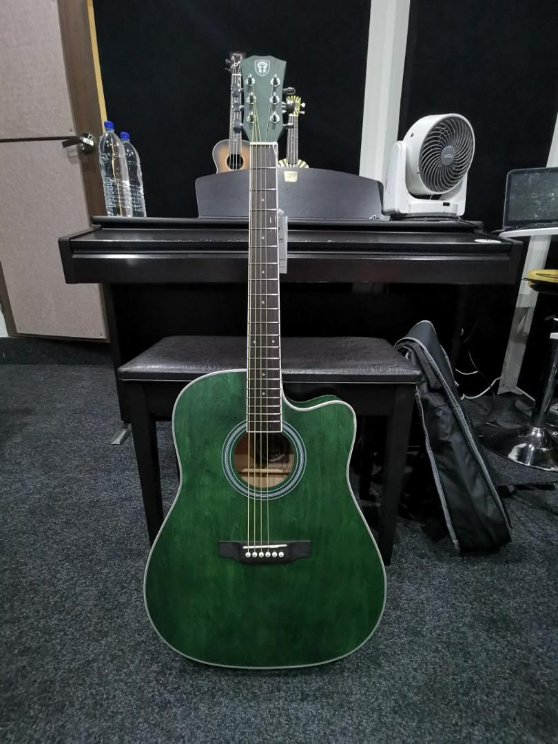 Acoustic Guitar in Tortoise Green
