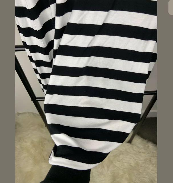 TS Taking Shape sz XXS/12 white black stripe dress tunic casual plus size