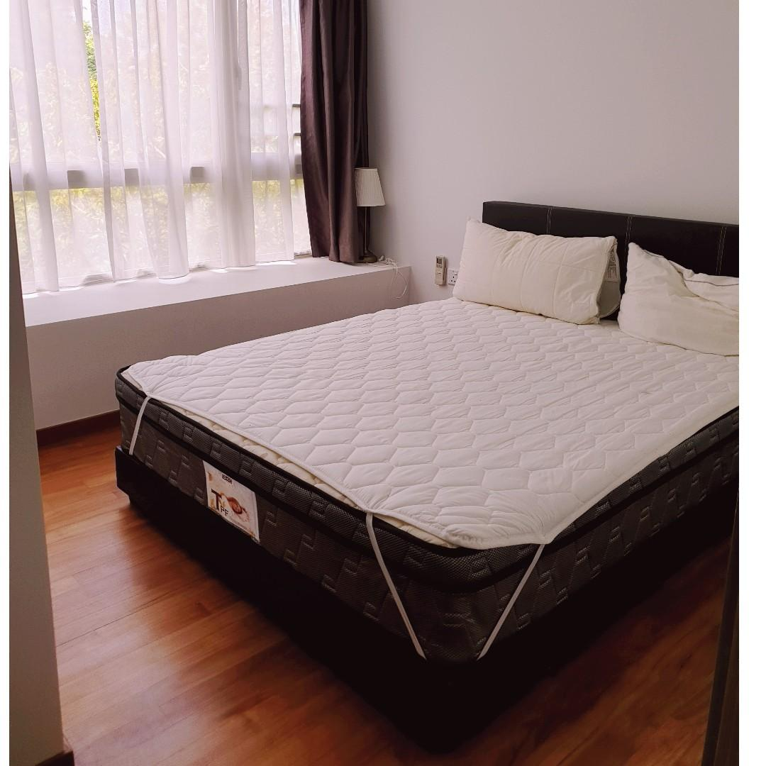 Picture of: Used Queen Sized Bed Frame And Mattress For Sale Furniture Beds Mattresses On Carousell