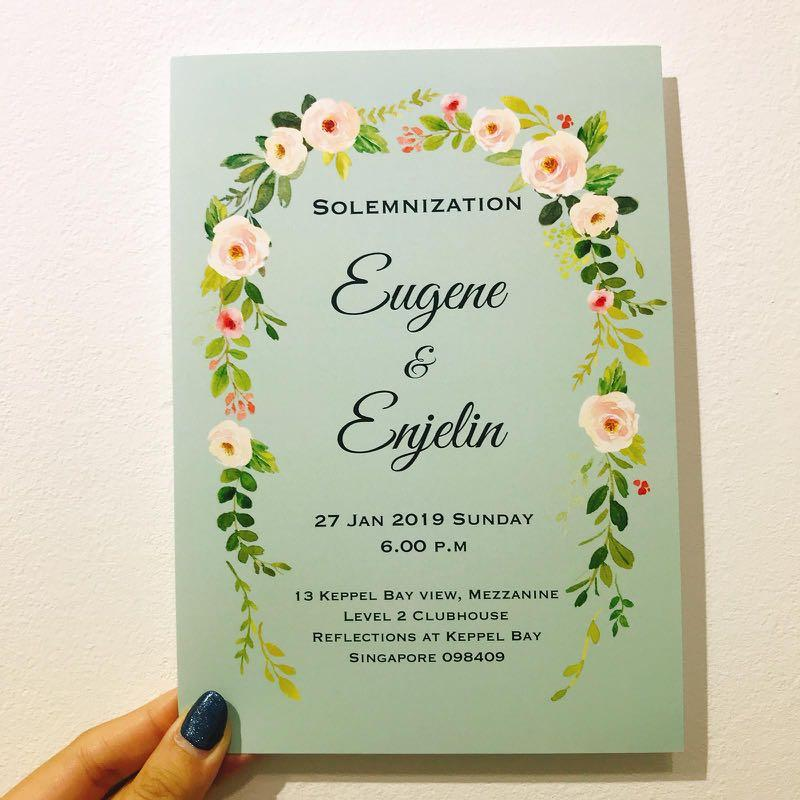 Wedding invites printing
