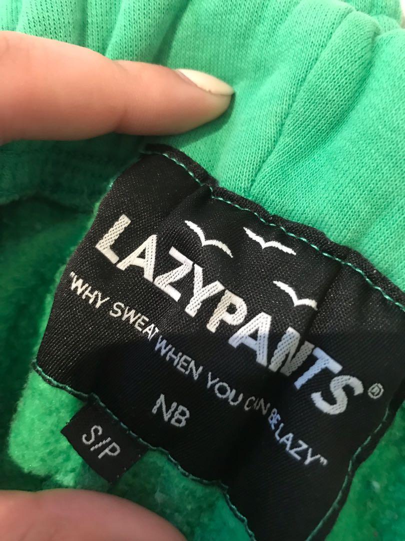 Women's green LazyPant sweatpants