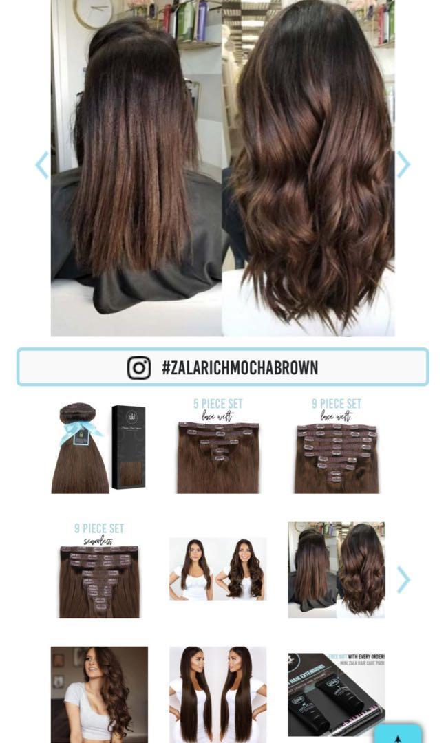 "Zala Hair Extensions 20"" Rich Mocha Brown"
