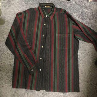 古著直條紋復古襯衫