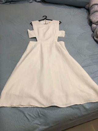 White dress cut out