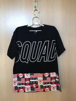Squad黑色短T