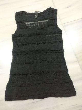 Top sexy lace transparent Hnm