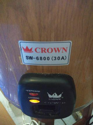 Crown Sw 6800 (3a) 2 in 1 rice cooker warmer