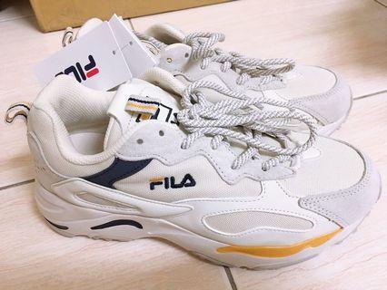 FILA RAY TRACER 藍黃25 老爹鞋 老爺鞋 厚底鞋 休閒鞋 韓國代購 正品