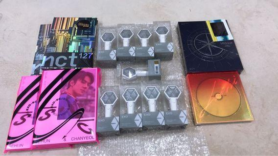 Product Arrival. Ready Stock LEE HI Album sealed, EXO Mini Lightstick Sealed, and NCT Superhuman Sealed.