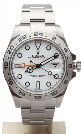 WTB Rolex Explorer II 216570 White