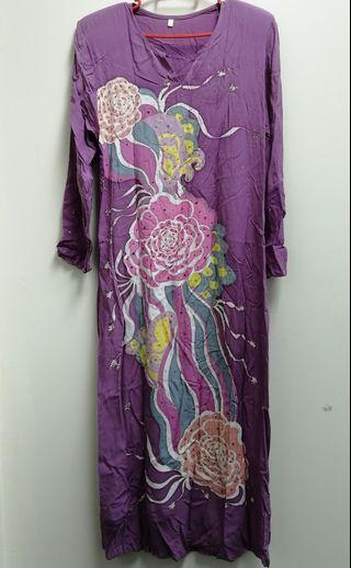 Jubah  Batik Kelantan Berbatu