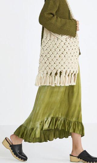 Zara鉤編針織包 已絕版