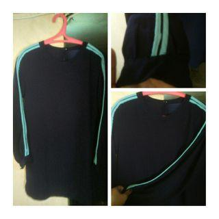 blouse navy stripe