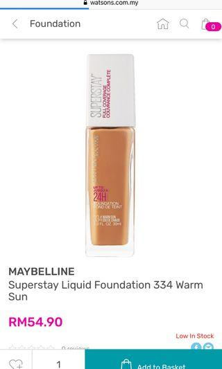 Superstay maybelline foundation