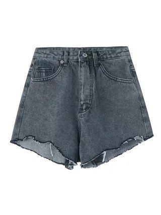 刷破個性牛仔褲 灰色