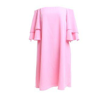 Zara Pink Off Shoulder Dress New XS