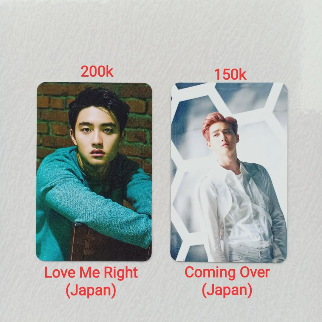 (150K) OFFICIAL PHOTOCARD ALBUM EXO SUHO COMING OVER D.O KYUNGSOO LOVE ME RIGHT JAPAN