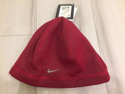 Nike 全新正品紅色呢絨帽
