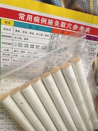 日本極品、三年、35:1  黃金艾條 香條 艾條 艾絨 艾柱薰香除障 淨化空間